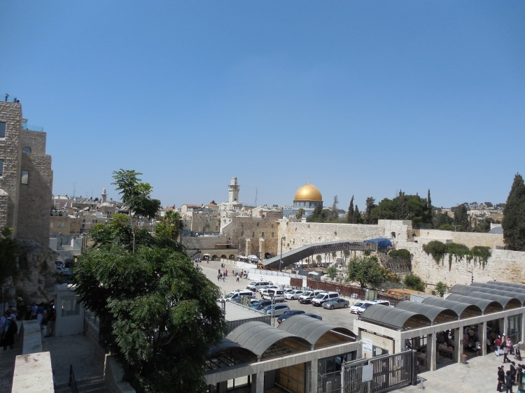Dome of the Rock and Western Wall from the Jewish Quarter
